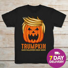 Trumpkin Make Halloween Great Again Funny Trump Black T-Shirt Size S to 3XL
