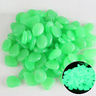 100 Glow in The Dark Stones Fish Tank Aquarium Garden Pebbles Rock Walkway Decor