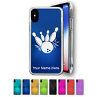 iPhone X Case - Bowling Ball and Pins - Free Engraving