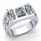Natural 1ct Round Cut Diamond Mens Modern Bridal Engagement Ring 10K Gold