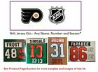 NHL Philadelphia Flyers Lettering Custom Jersey Kit ANY YEAR Name Number UNSEWN