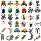 Women Men Crystal Pearl Insect Scorpion Bee Beetle Caterpillar Brooch Pin Gifts image