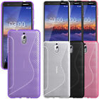 For Nokia 3.1(2018)  -Gel Silicone Rubber Case Premium Matte Cover +Touch Stylus