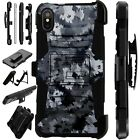 Lux-Guard For iPhone 6/7/8 PLUS/X/XR/XS Max Phone Case ARTISTIC CAMO GRAY
