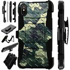 Lux-Guard For iPhone 6/7/8 PLUS/X/XR/XS Max Phone Case CROSSHATCH CAMO GREEN