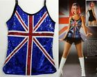 British Invasion Dance Costume Sequin Camisole TOP ONLY Ice Skating Adult Large
