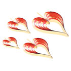 4pcs Paper Heart Hanging Ornaments Banners Wedding Valentine's Day Props
