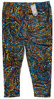 LEGGINGS DEPOT Ultra Soft Abstract Paisley Print Capri Leggi