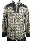 Rock Roll n Soul Rock Western Shirt Skulls of the West Skulls Western Shirt