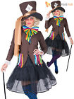 Halloween Dark Mad Hatter Costume Men Ladies Alice Fancy Dress Couples Outfit