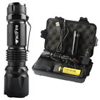 New 20000/10000Lumens Zoom LED Flashlight Torch Rechargeable 18650 Lamp Light