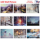 10 Style Led Light Up Snow Street Canvas Pictures Christmas Wall Decor Print Us