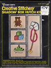 Choice ©1976 Vogart Crafts Creative Stitchery Shadow Box Kit Lincoln/Toys/Harves