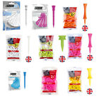 Masters Castle/Lignum/Plastic/Wooden Golf tees (White/Pink/Yellow/Lime/Blue)