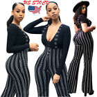 Women's Clubwear Trousers Playsuit Bodycon Party Jumpsuit Su