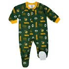 Gerber NFL Green Bay Packers Pajamas Infant Baby Toddler Blanket Sleeper Footed $16.95 USD on eBay