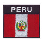 Peru Flag Badge Embroidered Patch