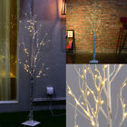Silver Birch Twig Tree LED Warm White Light Branches For Xmas Home Desk Garden H