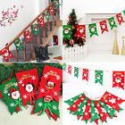 Xmas Christmas Tree Hanging Flag Banner Ornament Gift Home Y