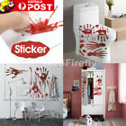 Halloween Wall Sticker Ghost Blood Red Handprint Scary Props Stickers Decoration