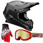 THOR Sector Level Motocross Helm 100% Strata Fire Red Enduro Offroad Quad
