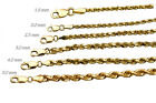 14k Solid Yellow Gold Rope Chain Necklace Bracelet 1mm-9mm Men Women Sz 7'-36'
