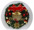 Christmas Wreath Wall Ornament Garland Decoration Red Bowknot Flower Home Decor