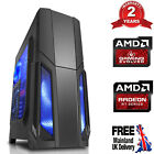 Ultra Fast Amd Quad Core Radeon Hd 8gb Ddr4 1tb Gaming Pc Computer Strom Blue