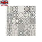 Mosaic Tile Stickers Transfers Kitchen Home Wall Decor Marble Effect 20*100cm