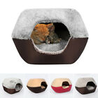 Sale Pet Cat Dog Nest Bed Warm Cave House Sleeping Bag Mat Pad Warm Cushion H1