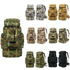 70L Molle Outdoor Military Tactical Camo Bags Camping Hiking Trekking Backpack