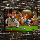 Dogs Playing Pool Billiards HD Print  Oil Painting on Canvas Home Decor Unframed $10.99 USD on eBay