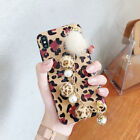 For iPhone X XS Max 8 7 Plus Luxury lady leopard bracelet Holder soft phone case