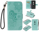 Owl Stand Wallet Leather Flip Case Cover For Sony Xperia C6 XZ1 XZ2 Compact XA2