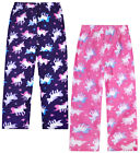 Girls Unicorn Pyjama Bottoms Kids Soft Fleece Pjs Lounge Pants Ages 5 - 13 Years