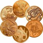 World Of Dragons Aztec Welsh Chinese Norse Indian Egyptian 1oz .999 Copper Round