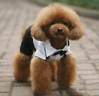 Pet Dog Tuxedo Bow Tie Wedding Suit Clothing Puppy Costumes Clothes Apparel