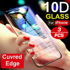 For iPhone X XS Max XR Tempered Glass Screen Protector 10D Full Cover Curved Lot