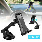 "360° Universal Windshield Car Mount Holder Stand for Phone & 4-12"" Tablets Pad"