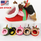 US Small Pet Cat Dog Bed Winter  Kitty Soft Warm Cotton Cave House Kennel Nest