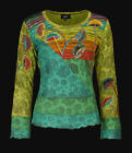 Top Shirt Nepal Longsleeve Pilze Mushrooms Razorcut 36 38 40 42 44 46 Ethno Goa
