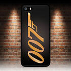 JAMES BOND 007 GOLD BACK PHONE CASE IPHONE 4 4S 5 5S SE 5C 6 6S 7 8 PLUS X $10.47 USD on eBay