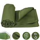 2.4-6m/8-20ft Canvas Tarp Green Cotton Tarpaulin Heavy Duty Campgrounds Conceal