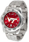 Collegiate Sport Steel Mens Watch Color Dial Pick Your Team