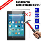2x Premium 9H Tempered Glass Film Screen Protector For Amazon Kindle fire 7 HD 8