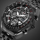 Infantry Mens Digital Watches Chronograph Stainless Steel Sports Military Army