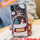 For iPhone X XS Max 8 7 6 Plus Dynamic Fresh Christmas Snowflake soft phone case