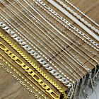 Lot Wholesale 925 Sterling Silver Rope Figaro Snake Chain Twist Necklace Jewelry