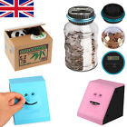 Automatic Coin Money Piggy Bank Saving Box Panda Face LCD Counting Jar Kids Gift