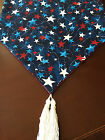 Внешний вид - Fourth (4th) of July Red, White & Blue Stars Cotton Table Runner by ThemeRunners